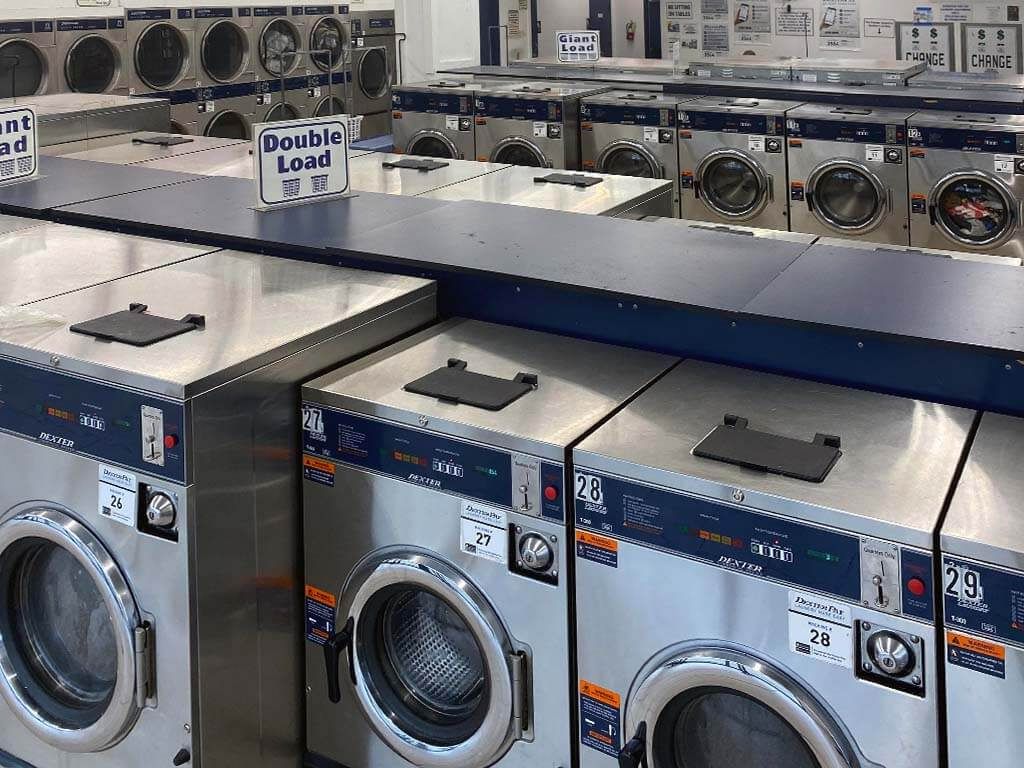daniel lake stainless steel coin laundry machines